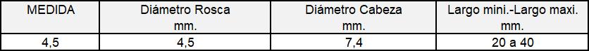 TORFIX PVC (Tabla)